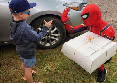 fête d'enfants spider man super héros