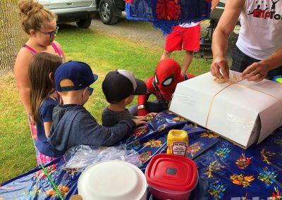 fête d'enfants super héros spiderman 1