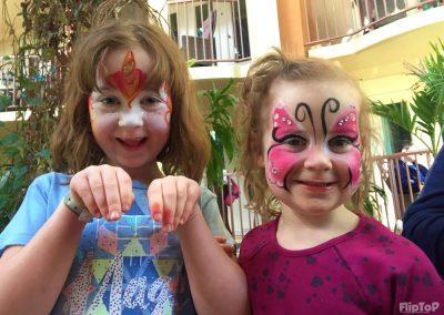 maquillage papillon et licorne